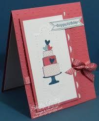 making hand made greeting cards stamping smiles