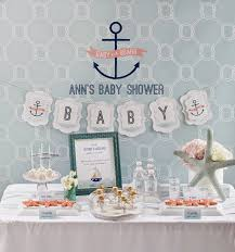 nautical theme baby shower baby on board nautical baby shower play party plan