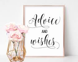 Advice To Bride And Groom Cards Wedding Advice Sign Etsy