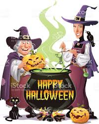 witches cooking on halloween stock vector art 485504402 istock