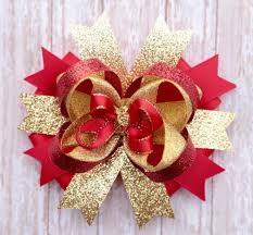 christmas hair bows gold and christmas hair bow stunning image ideas