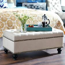 storage ottomans and benches intriguing black leather ottoman