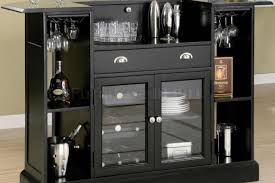 bar furniture l shaped brown wooden bar cabinet with table