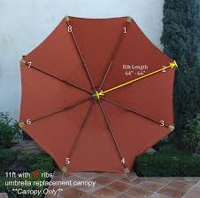 Umbrella Replacement Canopy by Amazon Com Double Vented Replacement Umbrella Canopy For 11ft 8