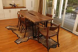 Living Edge Dining Table by Hand Made Live Edge Walnut U0026 Carbon Fiber Dining Table By Design