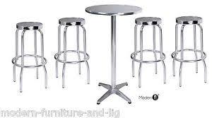 Aluminium Bar Table Aluminium Bar Table With Bar Stools Silver Patio Bistro Table