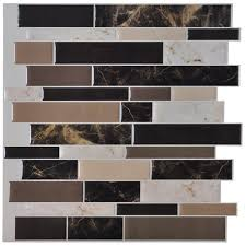 stick on backsplash tiles for kitchen art3d 12 x 12 peel and stick backsplash tile sticker self