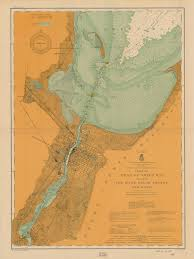 Map Of Green Bay Wisconsin by Print Of Chart Of Head Of Green Bay Including Fox River Below