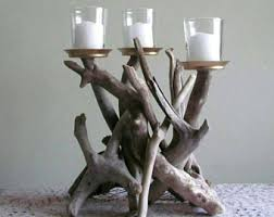 driftwood centerpieces driftwood candle etsy