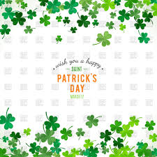 st patricks day background with clover leaves vector image