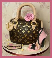 louis vuitton handbag cake with sugar stiletto cake by