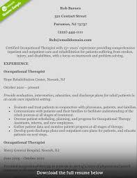 Occupational Therapy Resume Examples by 100 Certified Industrial Hygienist Resume Cv Pierluigi