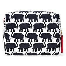tory burch printed nylon cosmetic bag elephant print tory