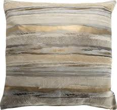 Cowhide Pillows And Silver Metallic Striped Cowhide Pillow