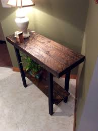 Entrance Tables Furniture Furniture Wooden Foyer Tables With Table Lamp Also Plant On Pot