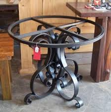 wrought iron pedestal table base wrought iron dining table base heavy flat iron pedestal table base
