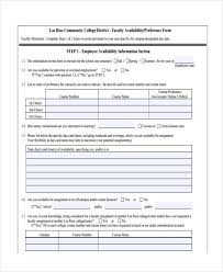 14 employee availability forms