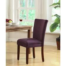 Aubergine Dining Chairs Homepop Rich Plum Aubergine Velvet Parsons Dining Chair Set Of 2