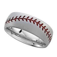 baseball wedding ring baseball wedding rings weddingrings cobalt chrome baseball design
