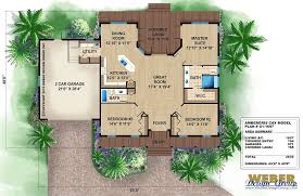 Modern House Plans For Corner Lots Caribbean House Plans Tropical Island Style Beach Home Floor Plans