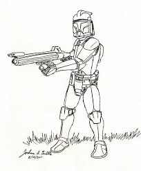 awesome star wars clone trooper coloring pages 3612 unknown