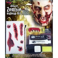zombie contacts for halloween amazon com morris costumes zombie deluxe makeup kit toys u0026 games