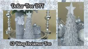 diy christmas home decor dollar tree diy blingy christmas tree 3 easy home decor craft