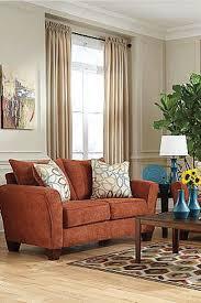Orange Sofa Living Room by