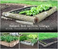 concrete block raised garden bed design whimsical raised beds