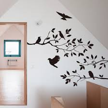 black bird tree branch wall stickers wall decal removable art home