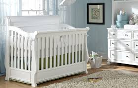 Bed Crib White Sleigh Convertible Crib Twinkle Twinkle One