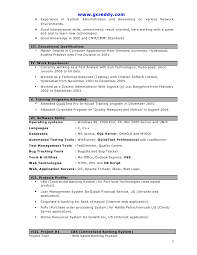 Manual Testing Fresher Resume Samples by Sample Resume For Freshers In Testing Templates