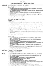 quality assurance resume exles it quality assurance analyst resume sles velvet
