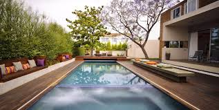 Deck Landscaping Ideas Swimming Pool Landscape Designs Stagger Backyard Swimming Pool