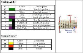 suzuki sx4 audio wiring diagram suzuki wiring diagram instructions