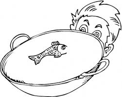 fish bowl coloring page clipart library clip art library