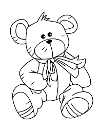 cute teddy bear coloring pages getcoloringpages com