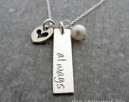 personalized charm necklaces personalized charms etsy