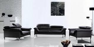 Black Leather Sofa Set 20 Inspirations Contemporary Black Leather Sofas Sofa Ideas