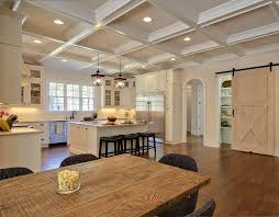 Lighted Ceiling Coffered Ceiling Kitchen Lighted Ceiling Kitchen Traditional With