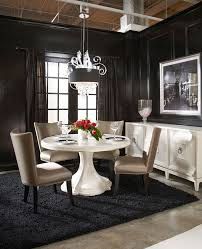 Kincaid Dining Room Cosmopolitan Round Dining Room Set Parchment By Art Furniture 1 Jpg