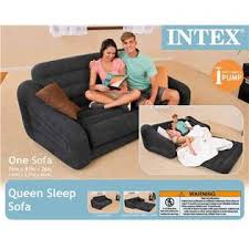 Queen Sofa Bed Mattress by Intex Inflatable Pullout Sofa U0026 Queen Bed Mattress Sleeper With Ac