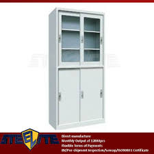 office storage cabinets with doors and shelves half glass sliding 4 door white lab office storage cupboard glass
