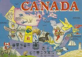 Canada On A Map by The Wrestling Insomniac Wcw In Canada