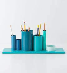 Blue Desk Accessories Multiples Pencil Holder Objects Of Desire Plenty Of Colour