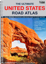 United States Map With Mileage Scale by Ultimate United States Road Atlas Hema Maps U2013 Mapscompany