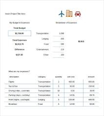 Travel Budget Template Excel Travel Budget Template 9 Free Word Excel Pdf Documents