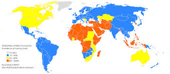 Mexico Country Map by File Global Map Of Male Circumcision Prevalence At Country Level