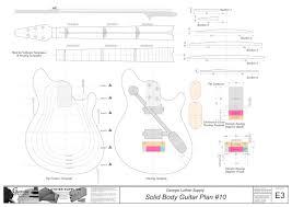 solid body electric guitar plan 10 electronic version wolfgang