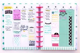 the planner january week w watercolor doodles me my